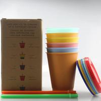 Großhandel Gewohnheit 16 Unzen Farbwechsel-Schale Kaffeetasse Nahrungsmittelgrad Sicher PP Kunststoff-Wasserbecher Trinkwasser Tumbler