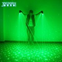 2 in 1 di alta qualità nuova puntelli laser verde partito cantante bar discoteca di ballo DJ luce guanti meccanici del LED