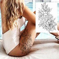 Flower Tattoo Temporário Feminino Corpo Art Painting Braço E Tatuagem Perna # 87