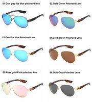 야외 조종사 편광 디자이너 선글라스 바다 낚시 고품질 안경 레오파드 태양 안경 SeeToint 여성 패션 선글라스 안경