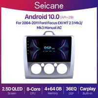 Seicane Android 10.0 2 + 32G Coche GPS NAVEGACIÓN Player 9 pulgadas para foco 2 Exi MT 2 3 2/3 2004-2011 Coche DVD