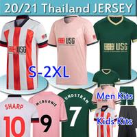 20 21 Шеффилд Футбол Джерс Berge Mousset 2020 2021 Mcburnie Lundstram Fluk Norwood Sharp Men Whult Kids Kits Футболка Тайский