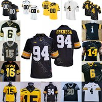 Personalizzato Iowa Hawkeyes Football Jersey NCAA College A.j. Epenesa Jones T.J. Hockenson Fant Nelson Josh Jackson Wirfs Scherff Gallery Clark