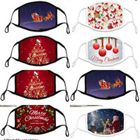 cloth Christmas mask adult cotton adjustable children ear ro...