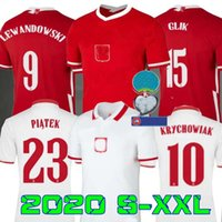 2020 2021 polonia Soccer Jersey Home away 20 21 red white MI...