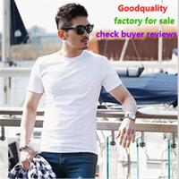 새로운 디자인 여름 티셔츠 남자 브랜드 의류 패션 짧은 티셔츠 남성 최고 품질 캐주얼 티셔츠 공장 판매를위한 판매 구매자 리뷰