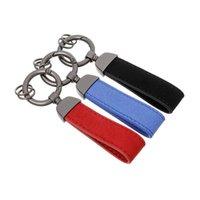 3D Rouge Noir Bleu Métal + Cuir Porte-clés Car Keychain Chaîne Touche Aurior pour R / M Tech M S Port M3 M5 X1 X3 E46 E39 E60 F30 E90 F30 F30 E3