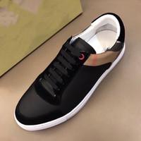 Yüksek Kaliteli Erkekler Hakiki Deri Moda Sneakers Klasik Ekose Rahat Ayakkabılar Lüks Erkek Ayakkabı Orijinal Mükemmel Kurtarma Rahat Ayakkabılar