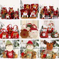 Noël sac de bonbons Kid sac cadeau Santa Pantalon Clause Elk Snowman Style Mignonne Candy Cadeau Sac de Noël Décoration de Noël