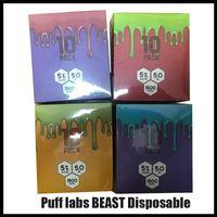 Puf Labs Beast 1500 Kıyma Kodu ile Tek Kullanımlık Vape Kalem Cihazı Marş Kitleri Boş Tek Kullanımlık Cihaz Kitleri Puf Bar Artı Bang XXL