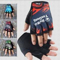 خمسة أصابع قفازات النساء الرجال يقودون رقيقة الرياضة ممارسة التدريب نصف في الهواء الطلق مشبك تصميم الدراجات