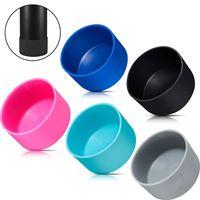 Base de la taza de agua de silicona para 12oz 16oz 18oz 20oz 21oz 24 oz Cubierta aislada de vidrio Soporte de la taza de deportes