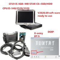 Toughbook CF19 diagnostic PC 4g ram i5 CPUwith MB Star multiplexer C6 mb star c6 vci Diagnosis with soft-ware V2020.09 HDD SSD