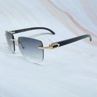 Big Square Marca Designer Óculos de Sol Homens Cariter Óculos Mulheres Rimless Buffalo Chifre Óculos Mens Vintage Sunglass Mens Eyewear