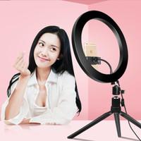 10 inç 26 cm Dim LED Studio Kamera Selfie Yüzük Işık Telefon Video Işık Lambası Tiktok Ringlight Aro de Luz için Tripod ile