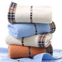 100% algodón puro súper absorbente toalla grande 34 * 75cm Toallas de baño suaves de espesor cómodo