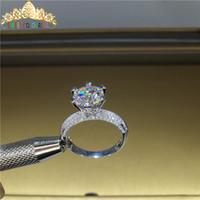 100% 18K 750au Gold Moissanite Diamond Ring Diamond VVS con certificato nazionale MO-00108 T200701