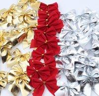 Последний размер 5,5 см, рождественские красные маленький бант Рождественская елка украшения кулон DIY праздничные сцены украшения, бесплатная доставка