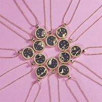 Doce constelaciones Tarjeta de papel Mujeres Collar Amantes Cadena nocturna Día de San Valentín Cadenas de regalo Accesorios de Joyería 3 04YH O2