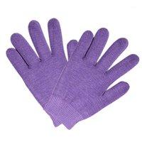 Cinco dedos Guantes Guantes Spa Planta Aceite Esencial Gel Skin Care Cotton Beauty Beauty Mittens Moda Simple Color Silicone Glove1