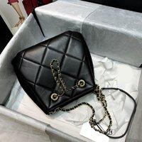7A منتجات مخصصة الراقية جلد الغنم والمعادن الذهبي حقيبة شعرية الماس AS1801 غرامة الجلد المدبوغ سعة جلدية كبيرة جدا