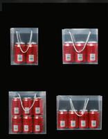 Матовый PP пластиковый подарочный мешок водонепроницаемый прозрачный ПВХ рождественские оберточные сумочка прозрачная мода Tote упаковка мешок горячей продажи 1 88GC G2
