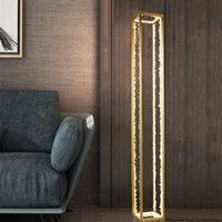 Современный золотой сталь хрустальный пол лампа дома гостиная столовая спальня художественное положение свет Fa211