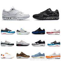 2021 Ámsterdam 87 aniversario Air 1 Londres Piet Parra Zapatos casuales Evergreen Aura Premium Lunar 1S Deluxe Sandía reaccionar zapatillas de deporte