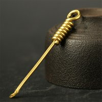 Herramienta de limpieza de tubería de la cuchara de cobre de latón Dabber Spoon Dabber Wax Tool Herramienta de hierba seca DHL envío gratis