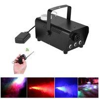 LED Fase Nevoeiro Máquinas Iluminação Discoteca Máquina De Fumaça Colorida Mini Remoto Fogger Ejector DJ Festa de Natal