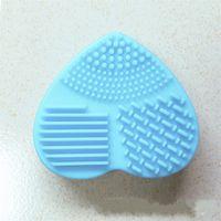 Silikon Make-up Pinselreiniger Bunte Bürsten Waschen Eier Herzen Formwaschmittel Makeup-Werkzeug Günstiger und schnell 1 55 Stunden E2