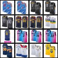 Curry Jerseys 30 Stephen 33 Wiseman Kyrie Kevin 7 Durant 11 Irving 2021 Nouveau Jerseys Basketball Dwyane 3 Wade Tyler Jimmy Herro Butler
