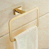 Tuqiu Gold Towel Ranger, Toalheiro, Toalheiro, Titular de papel, Toalha de toalha Bar, Bar de toalha, Gancho de Robe Banheiro Acessório Conjunto
