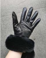 Frauen Winterpelz Echtes Leder Softs Warm Sexy Drive Damen Schaf Nerz Samt Pelz Fuzzy Fahren Hochzeit Braut Touchscreen Handschuhe