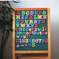 Oggetti decorativi figurine Eva magnetico alfanumerico frigorifero pasta lavagna lettere e numeri adesivo autoadesivo bambini educazione precoce casa