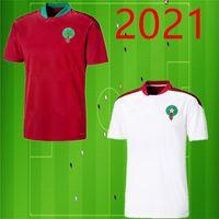 maillots de football européen Maroc 2021 20/21 Maillot de foot ZIYECH boutaib Camiseta de futbol BOUSSOUFA EL AHMADI maillot de football