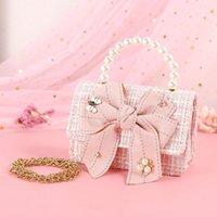 Designer-coreano crianças e bolsas bolsas Mini Crossbody 2020 bonito princesa Menina pequena festa menina Bolsa Bebê Coin Pouch mão sacos do presente