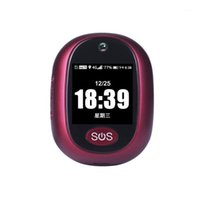 4G GPS-Tracking Anhänger V45 für Kinder Elder Mini GPS Persönliche Tracker-Alarm-Wecker mit Wasserdicht rot color1