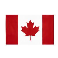 Kanada-Flagge Freeshipping Direct Fabrik Großhandel Stock 3x5FT 90x150cm 100% polyest für hängende dekoration ca can ahornblatt banner