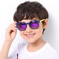 Sonnenbrille 2021 Kinder Runde Polarisierte Kinder Kühle Sonnenbrille TR90 Flexible Sicherheitsrahmen Töne für Jungen Mädchen Geschenk Eyewear