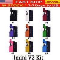 Оригинал Imini V2 Starter Kits Vape Модификации 650mAh Аккумулятор для 0.5ml 1,0 мл густого масла Картриджи Испаритель E Cigarette Vape Pen 0268100