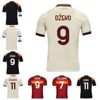 2021 كرة القدم جيرسي Zaniolo Roma Dzeko Pastore Totti Kluivert 20 21 قميص كرة القدم الرجال + Kids Kit