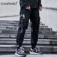 Chaifenko Hip Hop Hop Pantalones de carga Hombres Harajuku Harem Black Pantalón Streetwear Joggers Sweetpant Multi-Pocket Casual Het Pants1