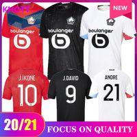 20 21 pullover di calcio LOSC Lille casa lontano TERZI 2020 2021 maillot de foot Sanches Osimhen BAMBA Yazici uomo di età shirt bambini Football Kit