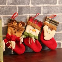 New cartoon cute Christmas stockings Christmas scene decorations Christmas mini socks dropshipping F4801
