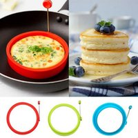 Neue Silikon Egg Maker Mold Pancake Ring Omelett Spiegelei Runde Shaper Eier Mold zum Kochen Frühstück Bratpfannenofen Küche Kostenloser DHL