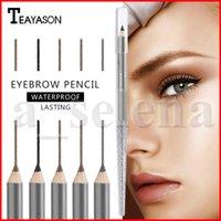 Teayason Pen Sourcils Waterproof Sourcil Tattoo Crayon Long Lasting Professional Crayon Sourcils 4 couleurs