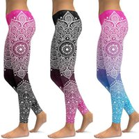 Li-Fi Mandala Leggings Yoga Pantalones Mujeres Fitness Push Up Protcess Wear Gym Entrenamiento Deportes Running Leggings Elastic Planchas 201202