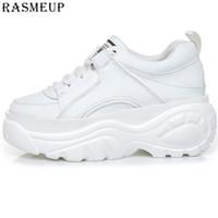 Rasmeup Kadınlar Yüksek Platformu Sneakers Beyaz kadın Tıknaz Eğitmenler Marka Moda Kadın Baba Ayakkabı Rahat Bayanlar Ayakkabı LJ201201