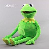 60 см Seesame Street Khermit Ручная лягушка Марионетка большой размер аниме лягушка Muppet Show Plush игрушки кукла детские дети День рождения подарок 201204